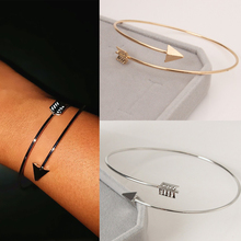 Punk Open Adjustable Arrow Cuff Bracelets for Women Fashion Simple Gothic Wrist Feather Bangles Gift Jewelry Wholesale