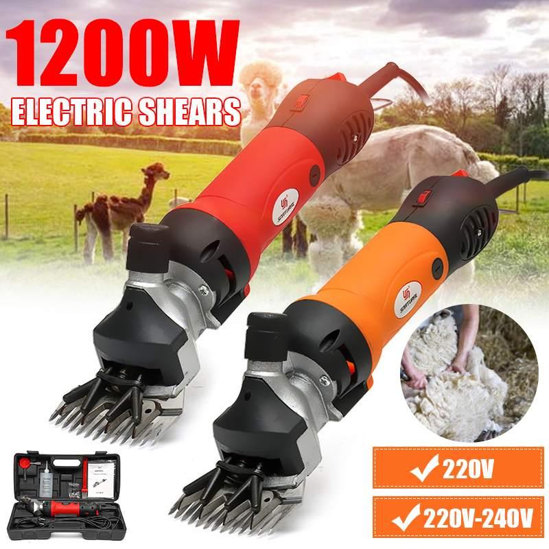 1200W 220V 6 Gears Electric Sheep Pet Hair Clipper Shearing Kit Shear Wool Cut Goat Pet Animal Shearing Supplies Cut Machine+Box