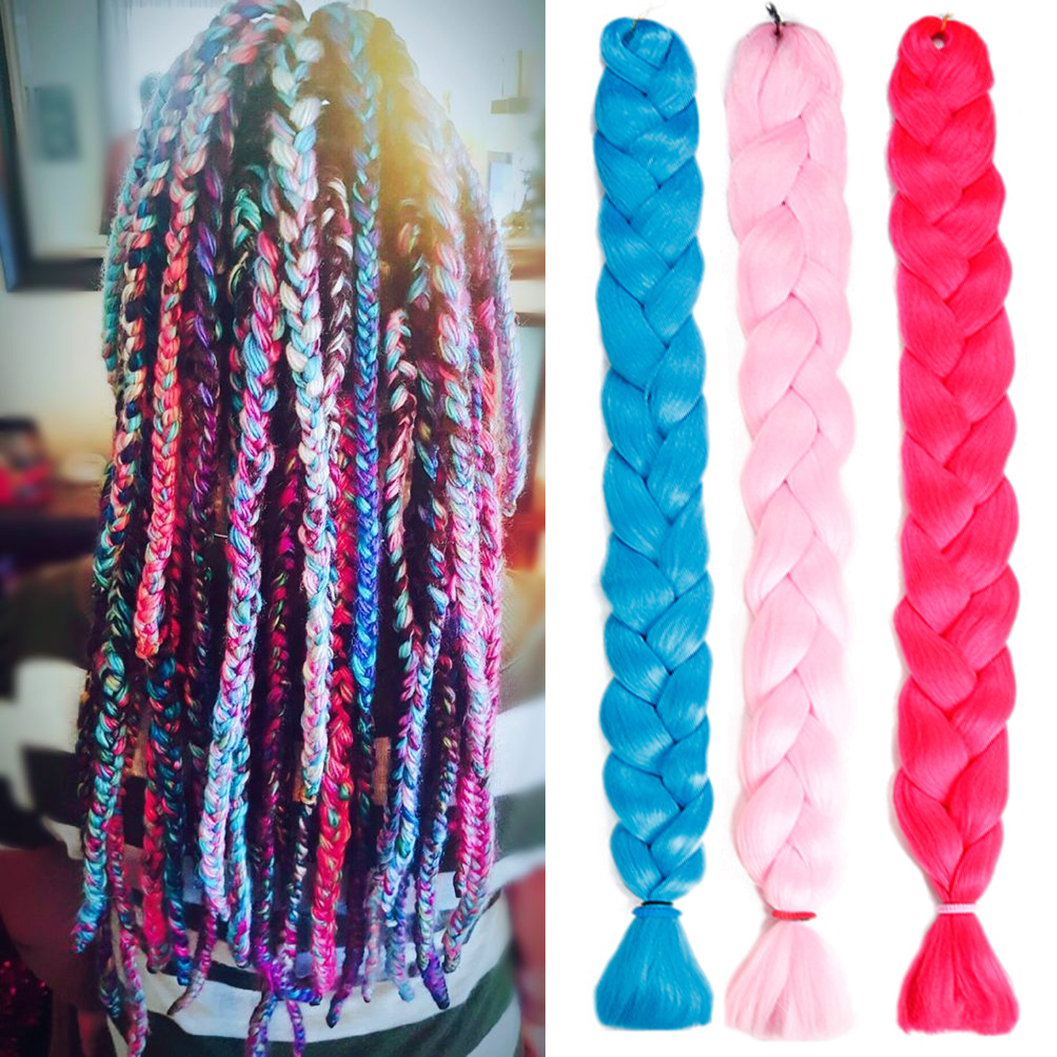 Synthetic Braiding Hair Extension 82inches 165 Grams Long Jumbo Braid Crochet Hair Ombre Kanekalon Braids