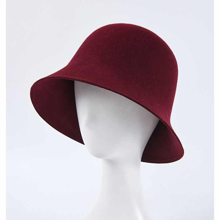 EOEODOIT 2019 Otoño Invierno sombreros de lana gorras de Color sólido gorras formales