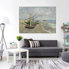 Famous Painting Modern Sailboat Canvas Painting Home Decor Items Wall Art Posters and Prints no frame(China)