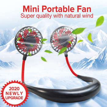 Hands-Free Neck Fans Mini Portable Air Cooler Fan USB Rechargeable Fan Small Desk Fans Personal Air Cooling Fans Air Conditioner fan polaris psf 40 v floor fan mini air conditioner air cooler ventilation cooler fans