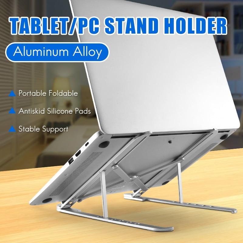 Lightweight Laptop Cooling Stand Aluminum Alloy Vertical Laptop Stand Foldable Tablet Stand Bracket Laptop Holder For MacBook
