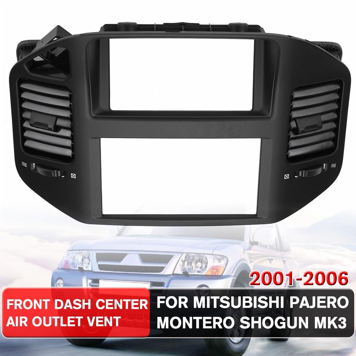 NIEUWE 1Pcs Black Front Dashboard Air Vent Outlet Panel Voor Mitsubishi Pajero Montero Shogun MK3 2001 2006