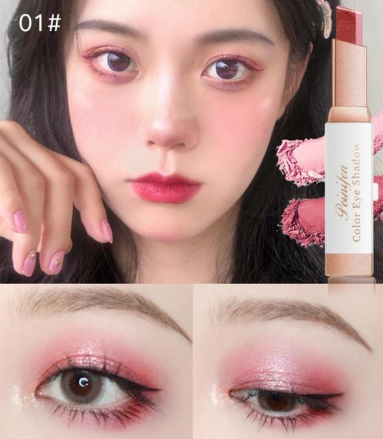 Two-color Gradient Stereo Eye Shadow Stick Pen Eyeshadow Stick Double Color Gradient Shadow Stick Shimmer Glitter Makeup TSLM1 4