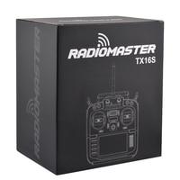 Em estoque radiomaster tx16s v2 tbs salão sensorradio transmissor cardan 2.4g 16ch multi-protocolo rf sistema opentx para rc drone