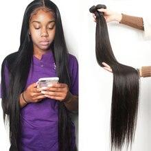 Fashow 30 32 34 36 40 дюймов прямые волосы пряди бразильских