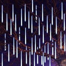 Thrisdar, 30 см, 50 см, метеоритный дождь, светодиодный Сказочный светильник, 8 капель, капля дождя, снег, падающий светильник, водонепроницаемый, Каскадный светильник с деревом