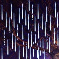 Thrisdar 30CM 50CM Meteor Shower Rain LED Fairy String Light 8 Drop Raindrop Snow Falling Light Waterproof Cascading Tree Light