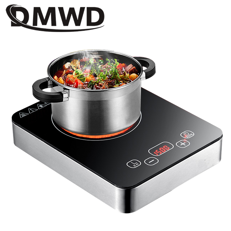 DMWD Electric stove multicooker mini induction cooker hot pot coffee water boiler heating stove cooktop energy saving cooking