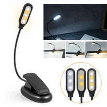 Mini lampe Led Rechargeable Usb à clipser, Flexible, 3 Modes d'éclairage, idéale pour la lecture, le voyage ou la chambre à coucher