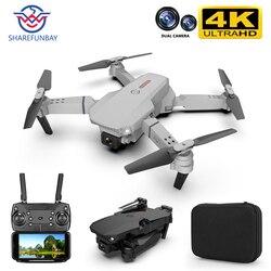 Sharefunbay drone, quadricóptero sharefunbay e88 pro drone 4k hd câmera dupla posicionamento visual 1080p wi-fi fpv drone com preservação de altura rc