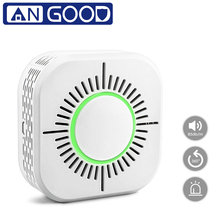 ANGOOD Wireless 433MHz Smoke Gas Detector Smart Sensor Home Security 360 Degree Smoke Fire Alarm Detection No Need Gateway