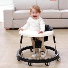Детские ходунки с колесом детская ходьба Обучение Анти опрокидывание складное колесо ходунки многофункциональное сиденье автомобиля