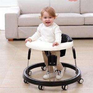 Baby Walker With Wheel Baby Walk Learning Anti Rollover Foldable Wheel Walker Multi-Functional Seat Car