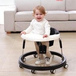 Caminhante do bebê com rodas caminhada do bebê aprendizagem anti rollover dobrável roda walker multi-funcional assento de carro