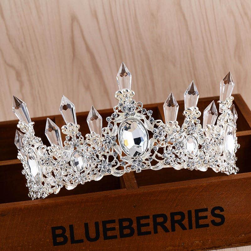 Crystal Crwon Wedding Hair Accessories Bridal Crown Tiaras Headdress Wedding Diadem Head Jewelry