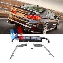 CF комплект 3D стиль M Tech углеродное волокно задний диффузор сплиттер закрылки для BMW 5 серии F90 M5 G30 задний спойлер бампера автомобиля Стайлинг