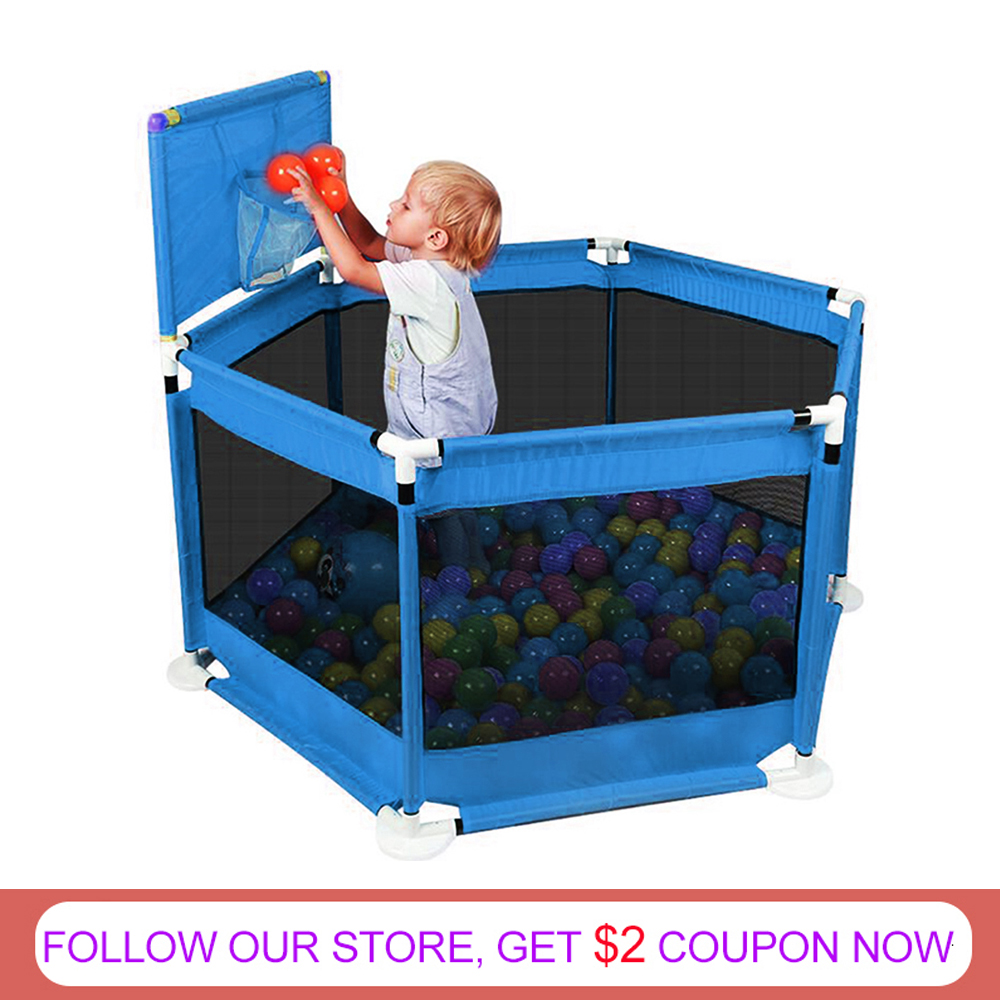 Baby Playpen Fence Folding Safety Barrier For 0-6 Years Old Children Playpen Oxford Cloth Game Tent Barrier For Infant Baby Tent