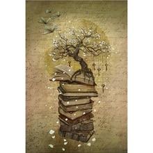 5D Diy Full Square Drill Diamond Painting Embroidery Book Tree Diamond Cross Stitch Rhinestone Decor