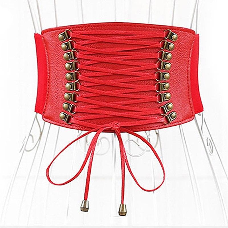 Woman's Elastic Belt Sealing Wide Corset Belts Waist Designer Belts Shaping Girdle Wide Belt PU Leather Waistband Girdle Bandage