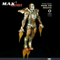 For collection 1/12 Scale Alloy Iron Man Movable Iron Man MARK XXI MK21 Movable Diecast Figure Doll Model