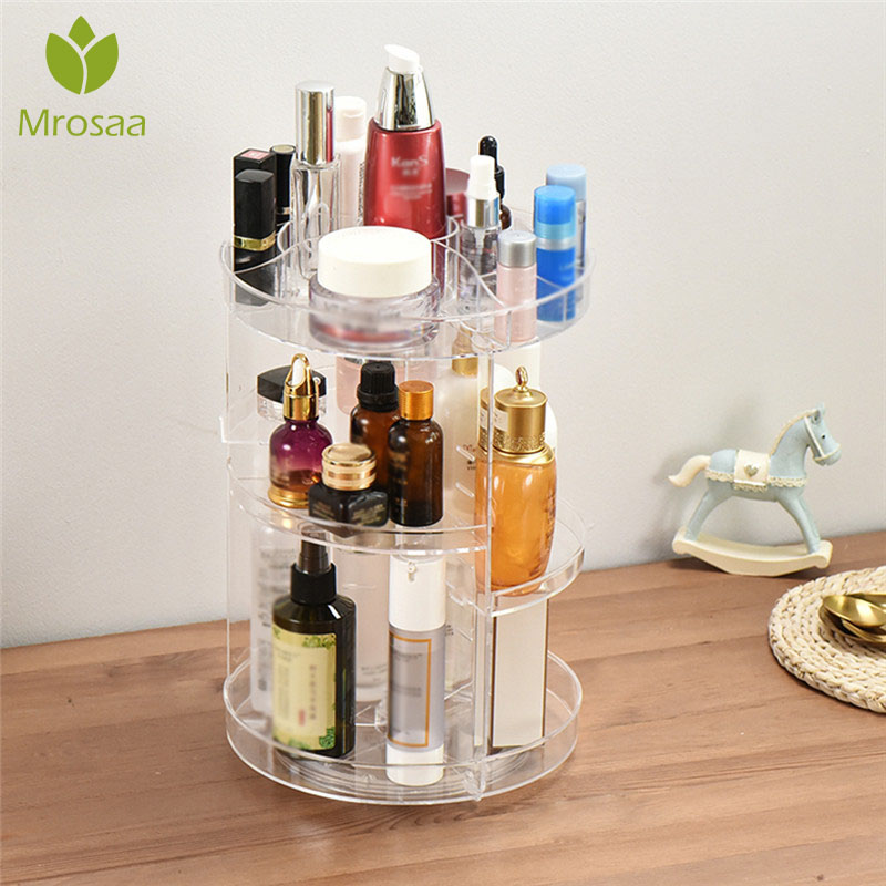 Shelf Storage-Box Cosmetics-Racks Makeup-Organizer Adjustable 360-Rotating For Newest