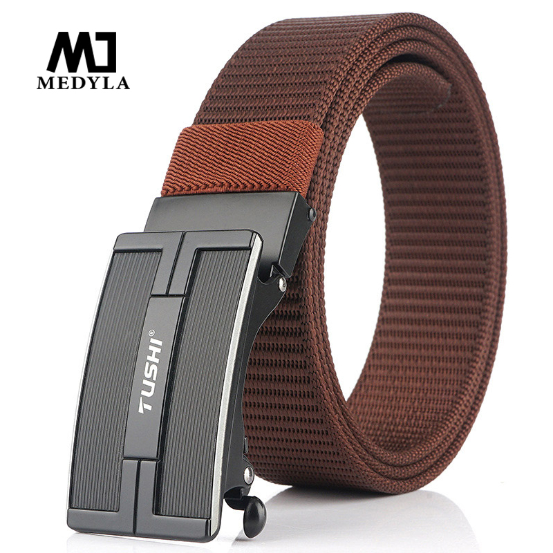 MEDYLA 2020 New Canvas Belt Youth Outdoor Sports Nylon Belt Men's Young Students Simple Automatic Buckle Belt Dropshipping