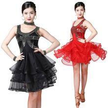Женское латинское танцевальное платье Сальса современное Танго