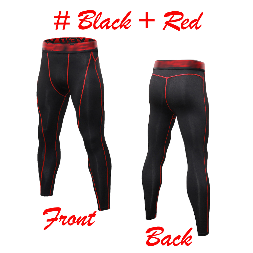 Mens Compression Tights Athletic Base Layers Spandex Sports Pants Quick-dry