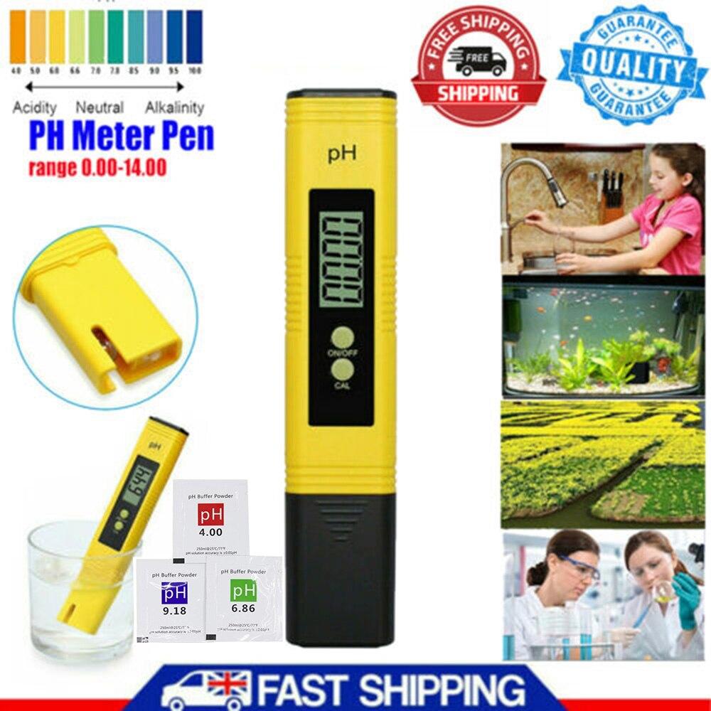 PH Meter 0.01 PH High Precision Water Quality Tester with 0-14 PH Measurement Range, Suitable for Aquarium, Swimming Pool
