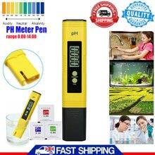 PH ölçer 0.01 PH yüksek hassasiyetli su kalitesi test cihazı 0-14 PH ölçüm aralığı için uygun akvaryum, yüzme havuzu