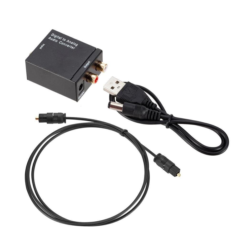 Цифро-аналоговый аудио преобразователь оптический Волоконно-коаксиальный сигнал аналоговый DAC Spdif стерео разъем 3,5 мм 2 внешних декодера