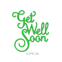 Get Well Soon Word Metal Cutting Dies Stencils DIY Scrapbooking Album for Card Making Decoration Embossing Craft