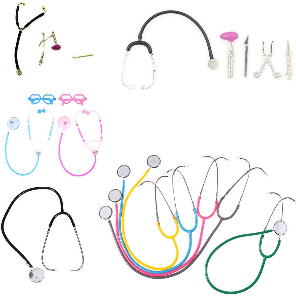 Venda quente médico enfermeira jogar estetoscópio brinquedos kit médico bebê educacional fingir jogar brinquedo clássico presente para crianças