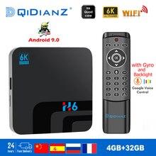 H6 טלוויזיה תיבת חכם 6K Ultra HD 4 + 32G אנדרואיד 9.0 סרט טלוויזיה מקלט WIFI Google יצוק נטפליקס מדיה נגן IPTV h6