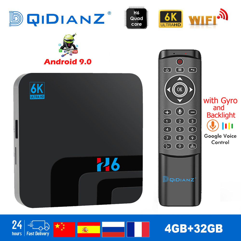 H6 TV BOX Smart 6K Ultra HD 4 32G Android 9 0 Movie TV Receiver WIFI Google Cast Netflix Media Player IPTV Set-top Box h6