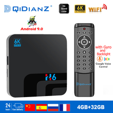 Receptor de tv smart h6 6k ultra hd 4 + 32g, android 9.0, para filmes, wifi, google cast netflix media player iptv set caixa superior h6