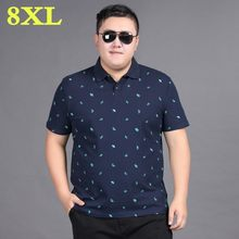 2020 novo plus size 8xl 7xl 6xl algodão polo camisa masculina bordado de manga curta polo masculino turn-down collar casual polo masculino(China)