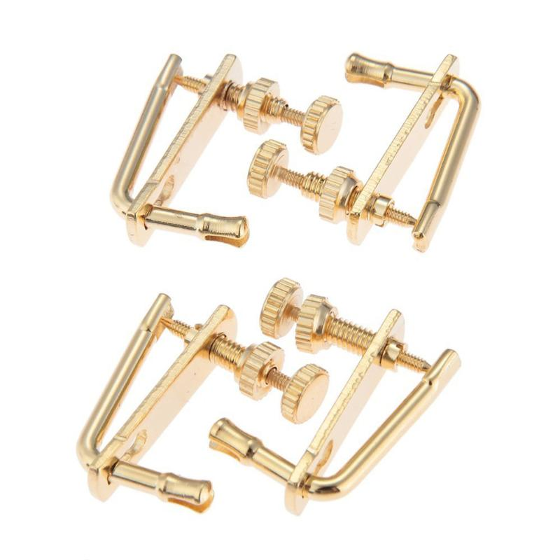4pcs Violin Fine Tuner Adjuster Copper Plating Screws For 4/4 Size Violin