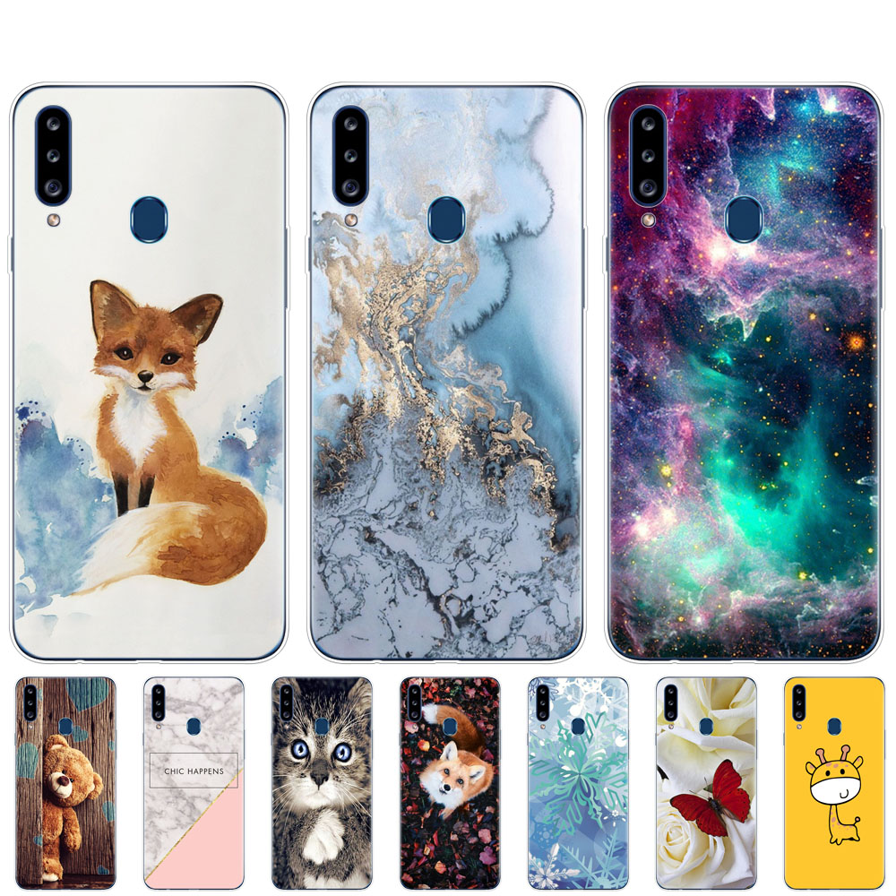 Case For Samsung Galaxy A20s Case Cover Silicon Coque On For Samsung A20s A 20s A207 SM-a207f Copas Soft TPU Fundas Protective