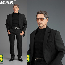 For tony Action Figure A013 1/6 Scale Iron Man TONY Gentleman Suit Set & Shoes Model set for fans toys collection blue iron man mk3 mark3 lifte size 1 1 bust statue scale tony strak recast action figure collectible boyfrien birthday gift