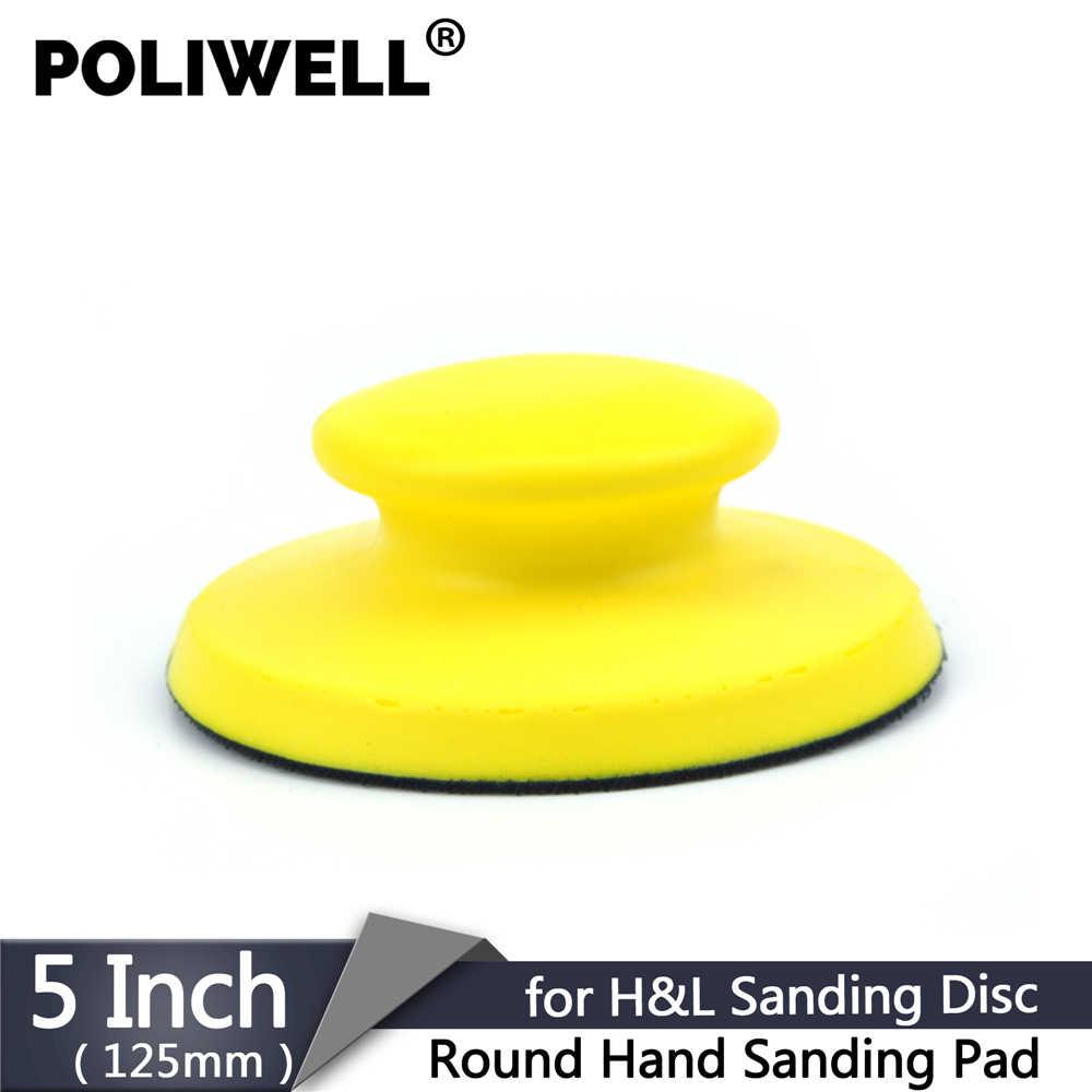 3 Hand Sanding Block Hook Loop Polisher Grinder Pad Disc Sander Paper Tool Part
