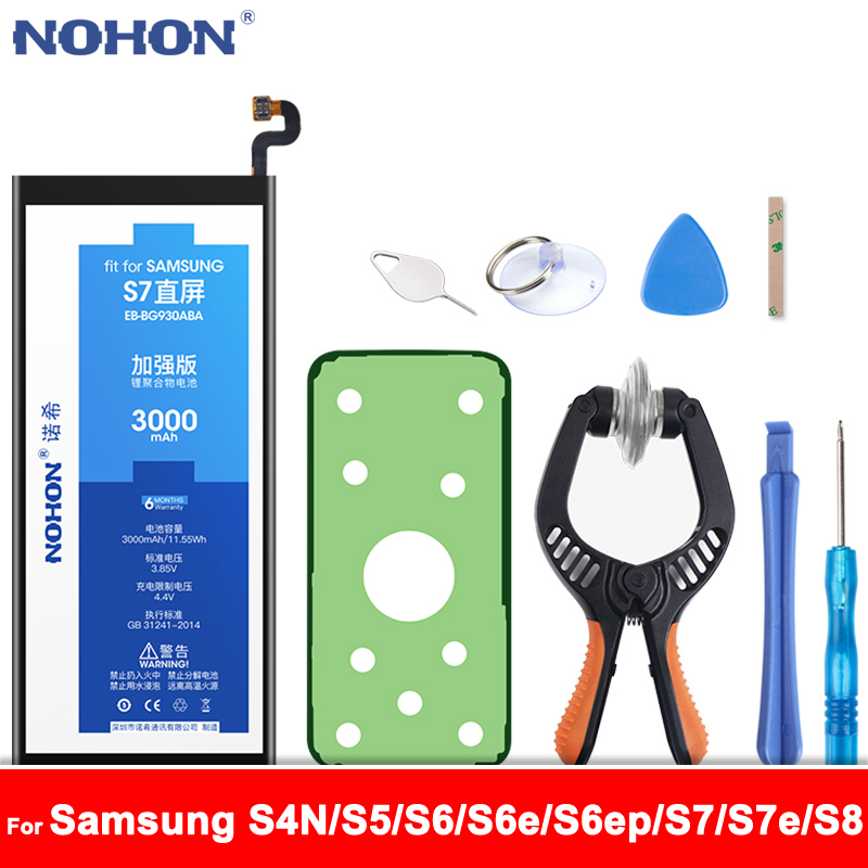 NOHON Battery For <font><b>Samsung</b></font> Galaxy S4 NFC <font><b>S5</b></font> S6 edge plus S7 edge S8 G920F G900S G925F G928F G930F G935F EB-BG930ABE Phone <font><b>Bateria</b></font> image