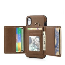 Wallet Card Business Holder Leather Cases For iPhone11 Pro Max 7 8 iPhone XR XS XSMAX