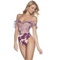 2019 Hot Selling Women Sexy Bandage Bikini Cut Out One Piece Swimwear Monokini Beachwear Swimsuit Holiday Soft Floral Swimwears