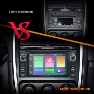 """Image 3 - in Dash Car Radio Multimedia Player Navigation System with 6.2""""LCD Bluetooth WiFi GPS for Jeep Wrangler Dodge Chrysler Android 9"""
