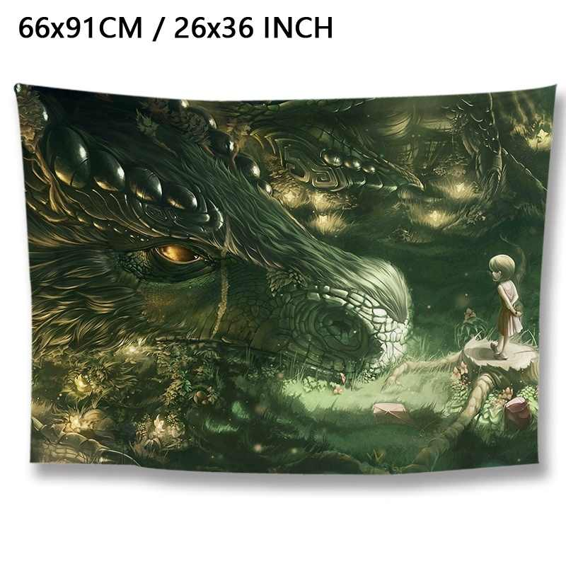 Polyester Fabric Poster Wallpaper Trippy Art Wall Hanging Tapestry Decorations Bedroom Living Room Dorm Decorative Tapestries Aliexpress