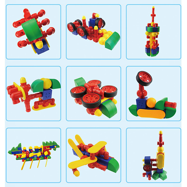 MAGFUN 54Pcs Magnetic Building Blocks Educational Construction Kit Building Construction Toys Age 3 Kids Christmad Gift