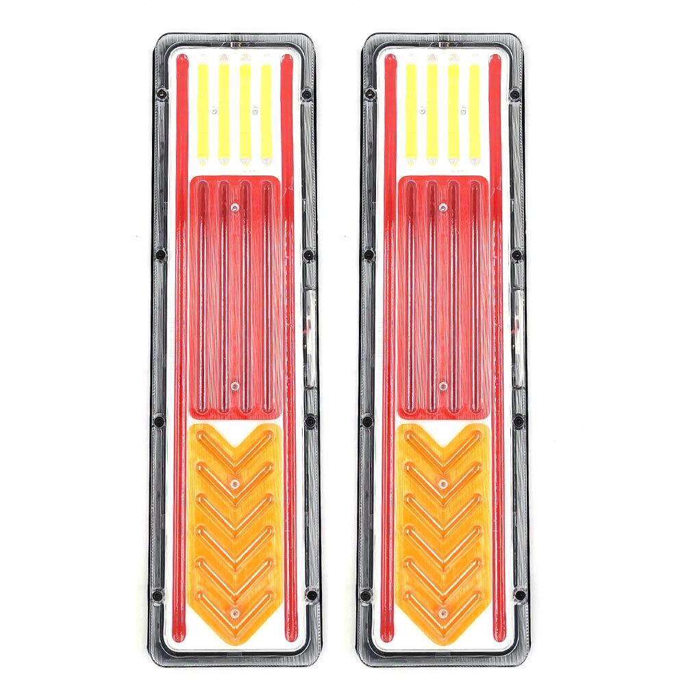 2 pçs de alta qualidade caminhão stoplight girando lâmpada decoração luzes da cauda noite iluminação sinal 24 v cob led à prova dwaterproof água lâmpada freio caminhão